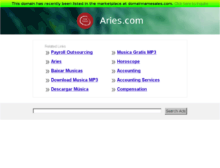 aries.com screenshot