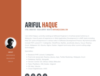 arifulhaque.com screenshot