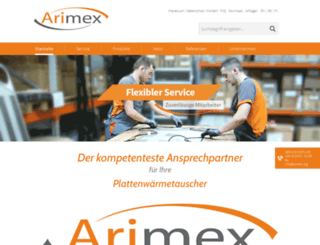 arimex.org screenshot