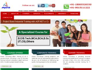 arioneconsulting.com screenshot