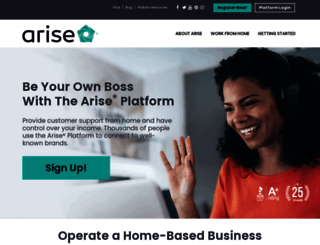 ariseworkfromhome.com screenshot