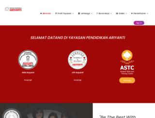 ariyanti.ac.id screenshot