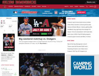 arizona.diamondbacks.mlb.com screenshot
