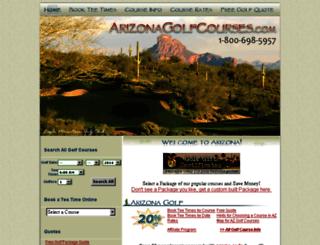 arizonagolfcourses.com screenshot