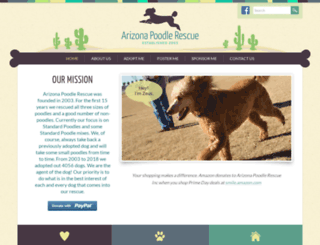 arizonapoodlerescue.org screenshot