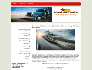 arizonatruckservices.com screenshot