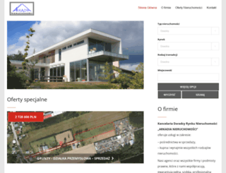 arkadia-nieruchomosci.pl screenshot