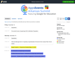 arkansas2014.sched.org screenshot