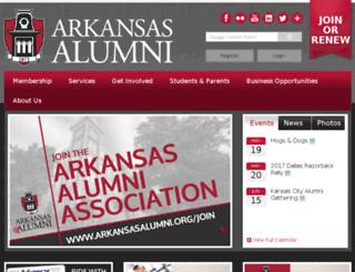 arkansasalumni.org screenshot