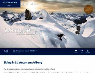 arlbergerbergbahnen.com screenshot