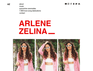 arlenezelina.com screenshot