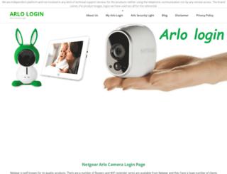 arlo-login.com screenshot