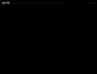 arm.com screenshot