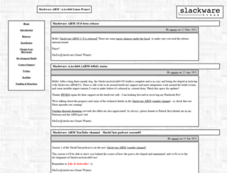 arm.slackware.com screenshot