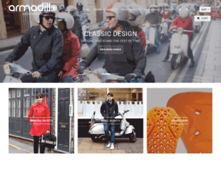 armadilloscooterwear.com screenshot