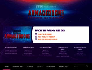 armageddonexpo.com screenshot