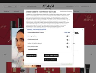 armanibeauty.de screenshot