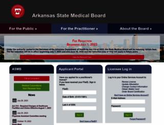 armedicalboard.org screenshot