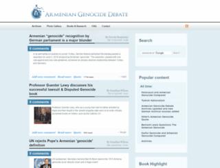 armeniangenocidedebate.com screenshot