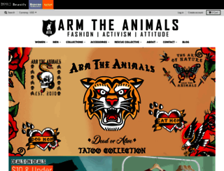 armtheanimals.com screenshot