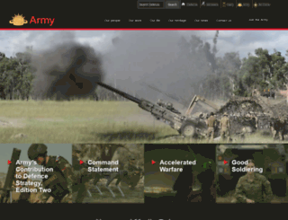 army.gov.au screenshot