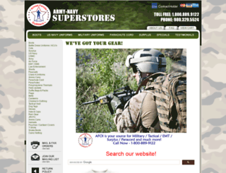 armynavysuperstores.com screenshot