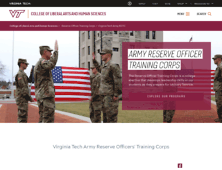 armyrotc.vt.edu screenshot