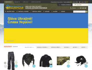 armyshop.cz screenshot