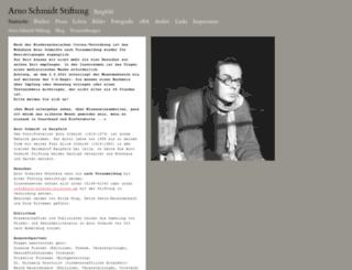 arno-schmidt-stiftung.de screenshot