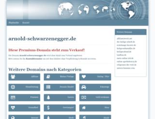 arnold-schwarzenegger.de screenshot