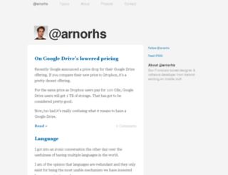 arnorhs.com screenshot