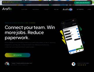 aroflo.com screenshot