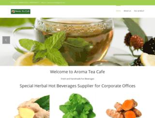 aromateacafe.com screenshot