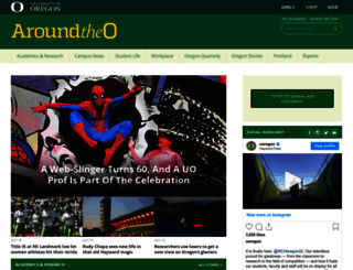 around.uoregon.edu screenshot