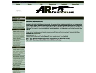 arpartsfinder.com screenshot