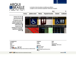 arquibraille.es screenshot