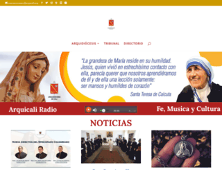 arquidiocesiscali.org screenshot