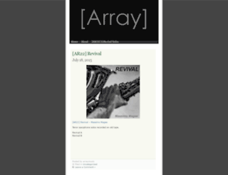arraymusic.wordpress.com screenshot