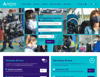 arriva.gal screenshot