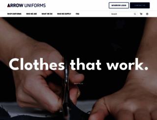 arrowuniforms.co.nz screenshot