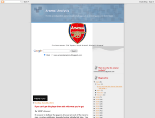 arsenalanalysis.blogspot.com screenshot