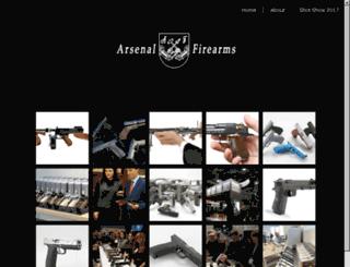 arsenalfirearms.com screenshot