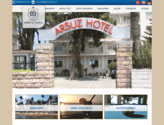 arsuzotel.com screenshot
