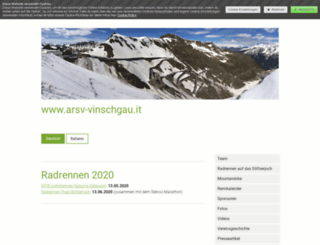 arsv-vinschgau.it screenshot