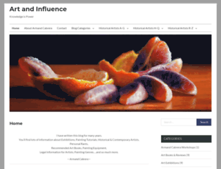 artandinfluence.com screenshot