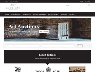 artauctions.co.uk screenshot