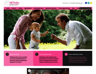 artbabyeggdonors.com screenshot
