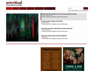 artcritical.com screenshot
