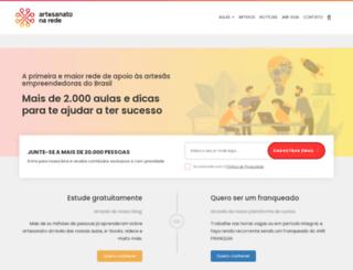 artesanatonarede.com.br screenshot
