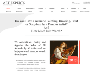 artexpertswebsite.com screenshot